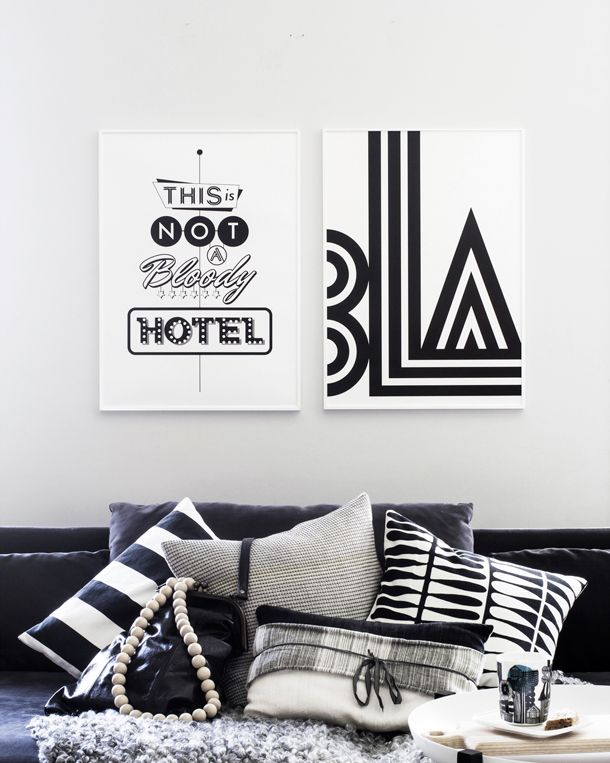 Meet the designer quirky scandinavian design duo one must dash black and white printsblack