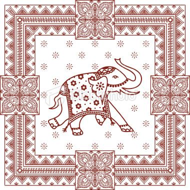 A Highly Decorated Indian Elephant Surrounded By Intricate