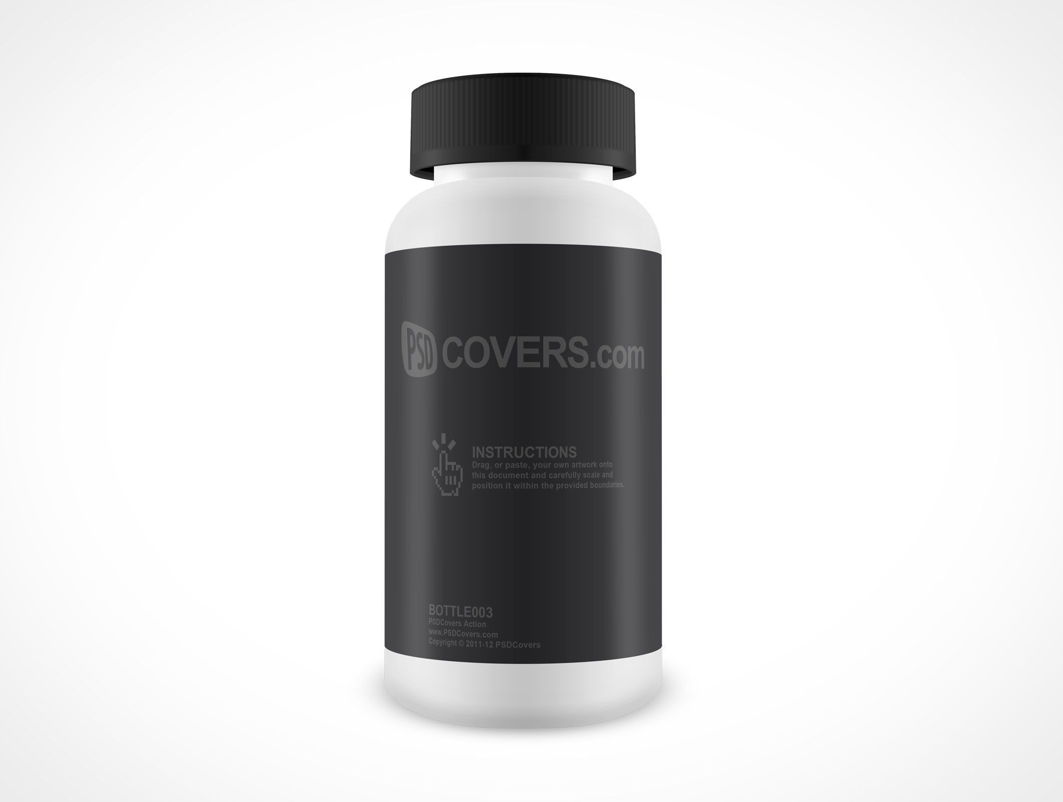 BOTTLE003 is a front facing shot of a large anti-headache medicine ...