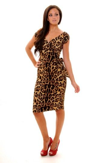 Tacky but I kinda love it... So Couture Limited Edition Gold Leopard Print Bombshell Pencil Dress, £89