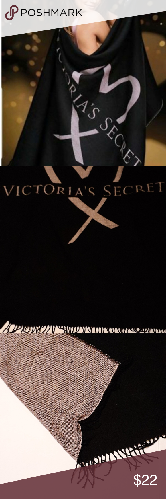 ?Cozy Victoria Secret Throw Blanket Cuddle up in Victoria's Secret Soft and C...