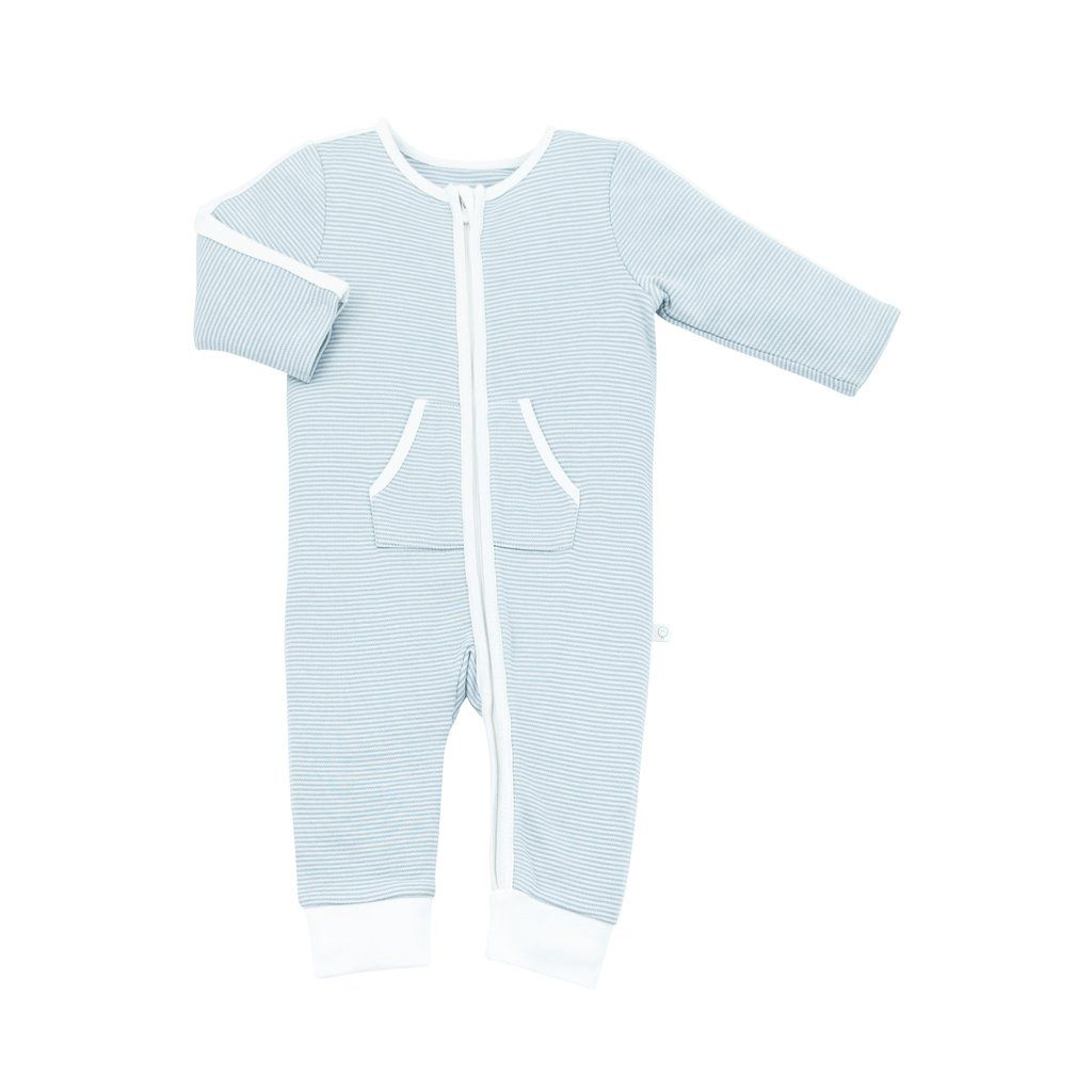 d2cc7436919d Sports Stripe Zip-Up Sleepsuit