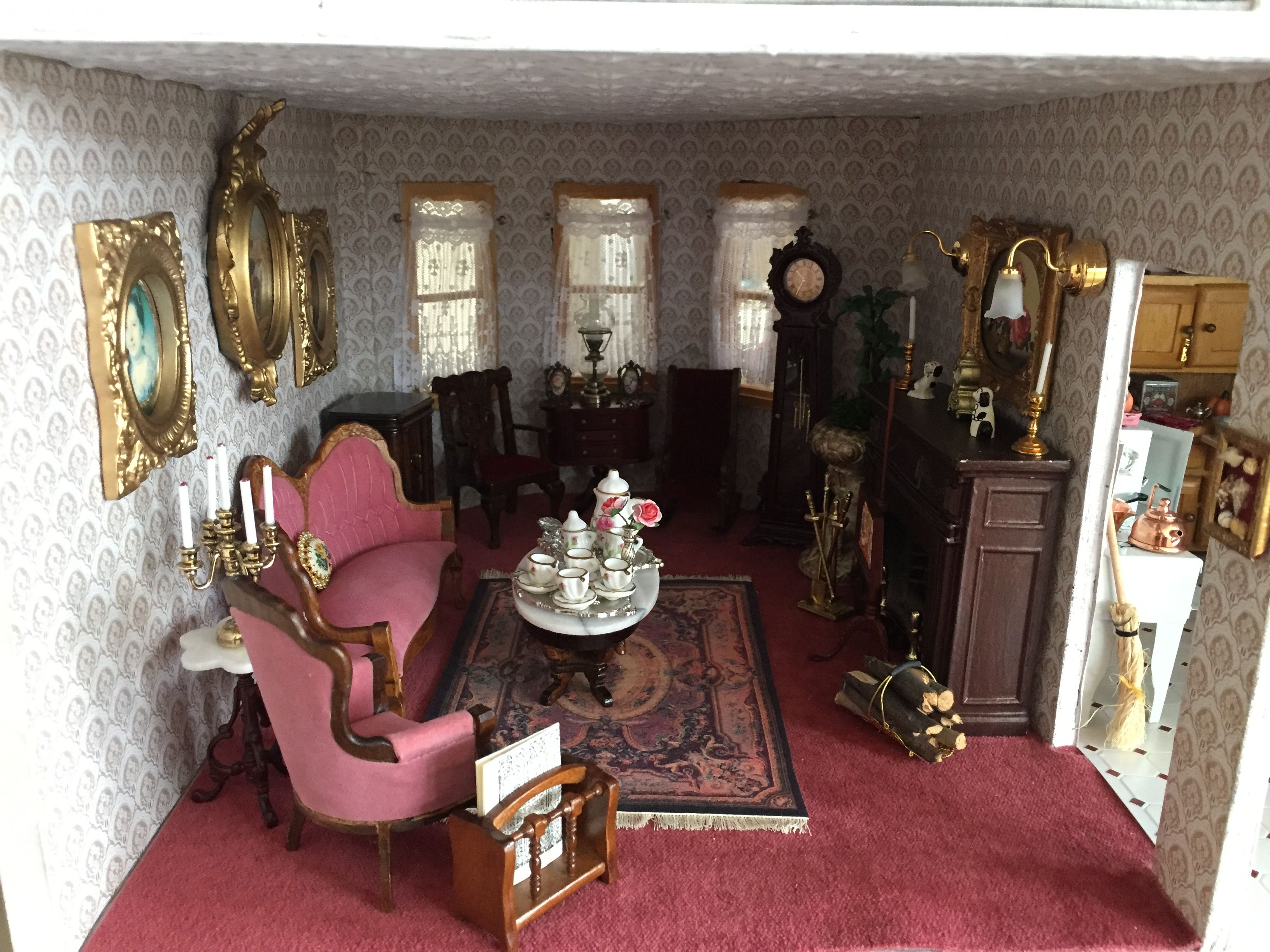 My Victorian Dollhouse Parlor Dollhouse Living Room Dolls House Interiors Dollhouse Design