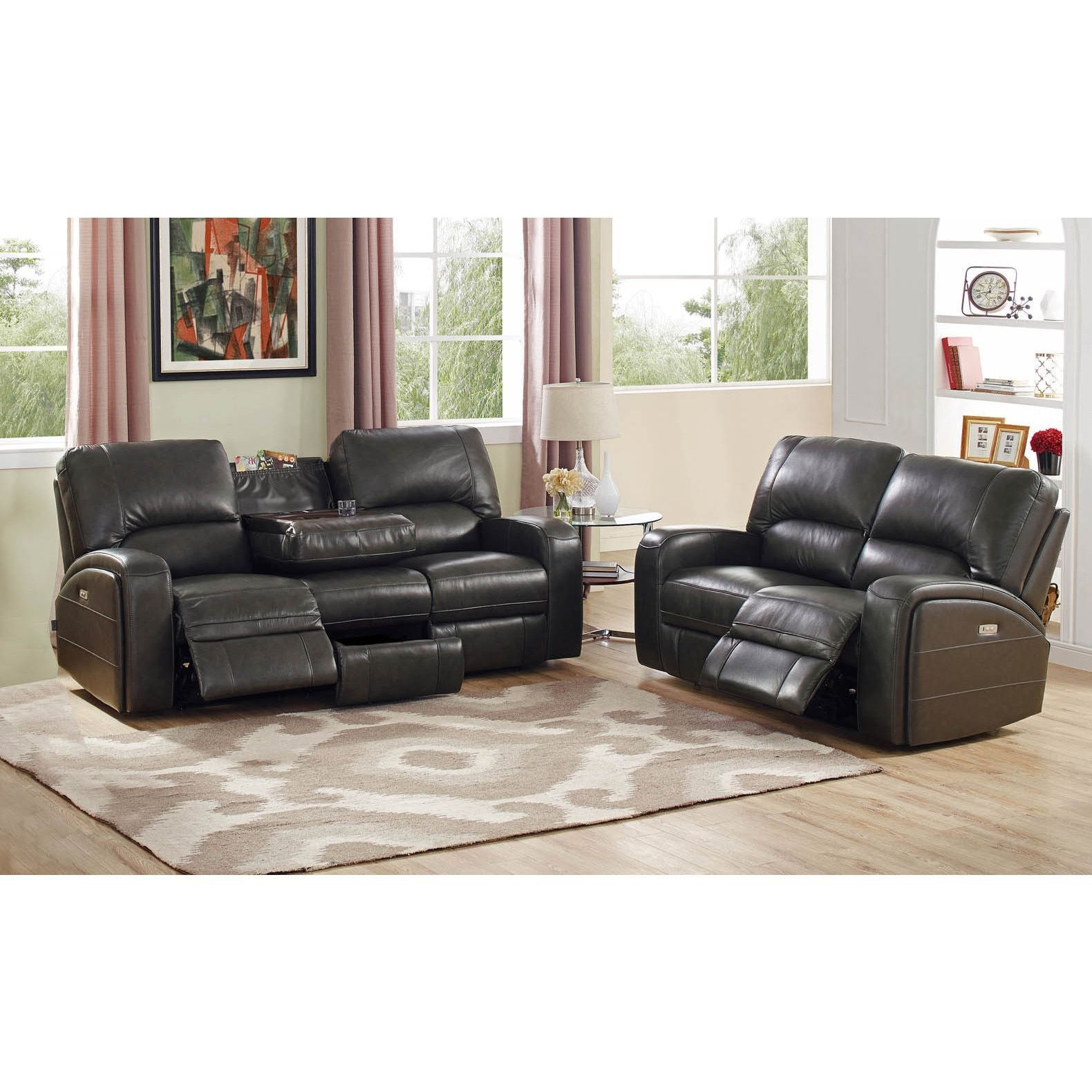 Hydeline by Amax Newcastle Top Grain Leather Power Reclining