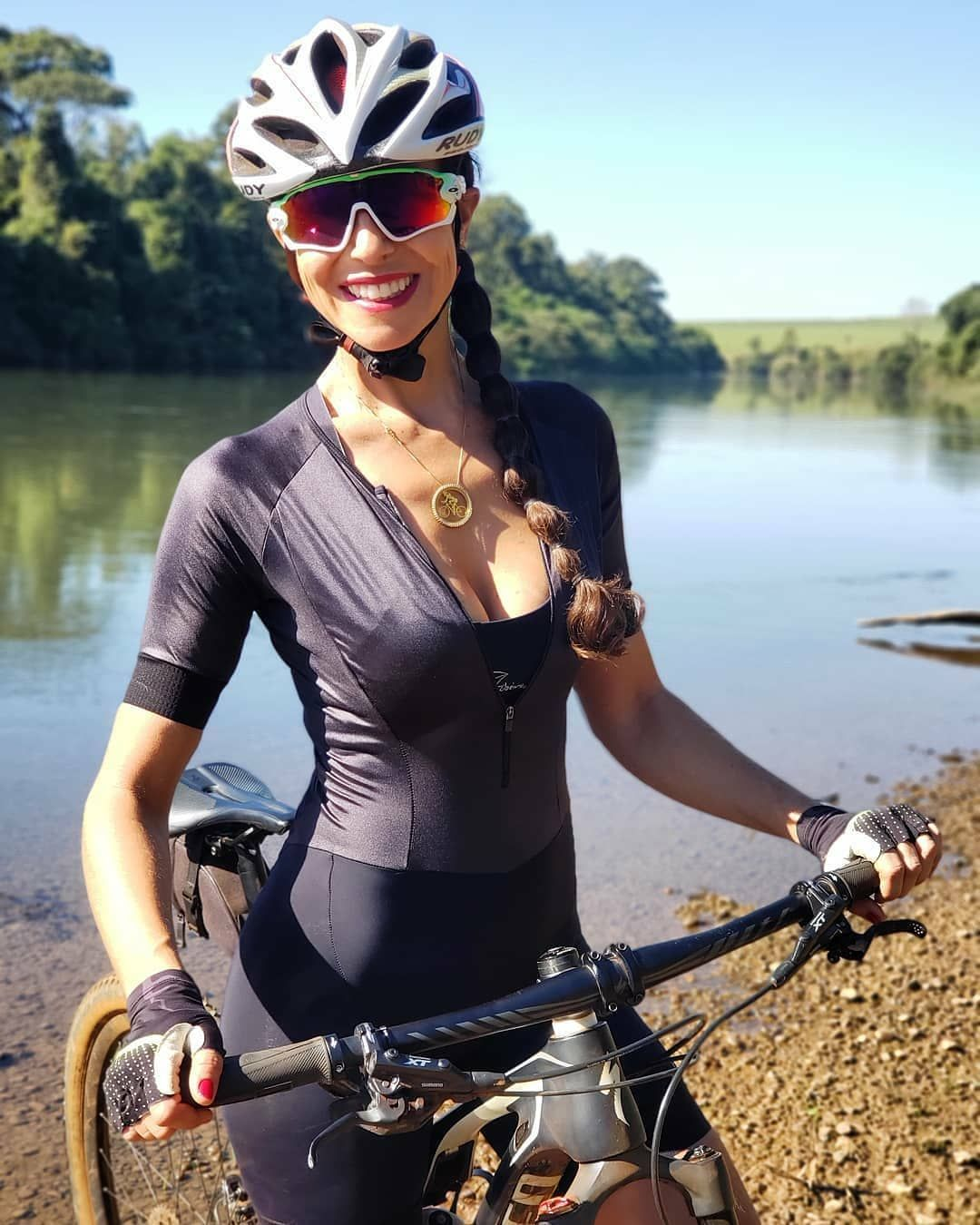 Cyclingbabes Awesome Day And Awesome View Rider Rakelsantanna Bomdia Goodmorning Pedal Mtb Bike Women Cycling Female Cyclist Triathlon Women
