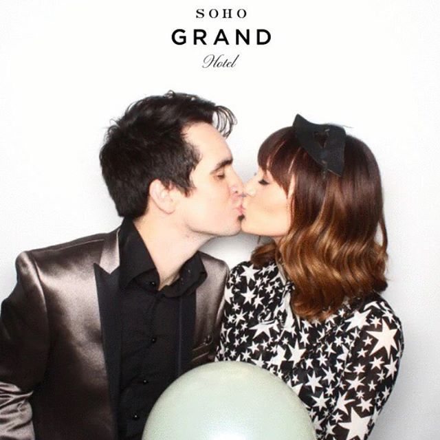 Brendon and Sarah Urie in a Metallic suit @afrancodesigner #Men's Wear #Men's Fashion