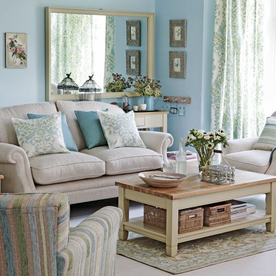 peaceful living room My dreamy world Pinterest Blue painted