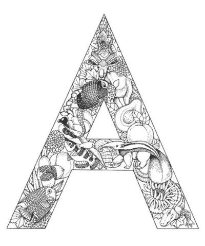 Gorgeous alphabet coloring pages. A great craft for older kids to do ...