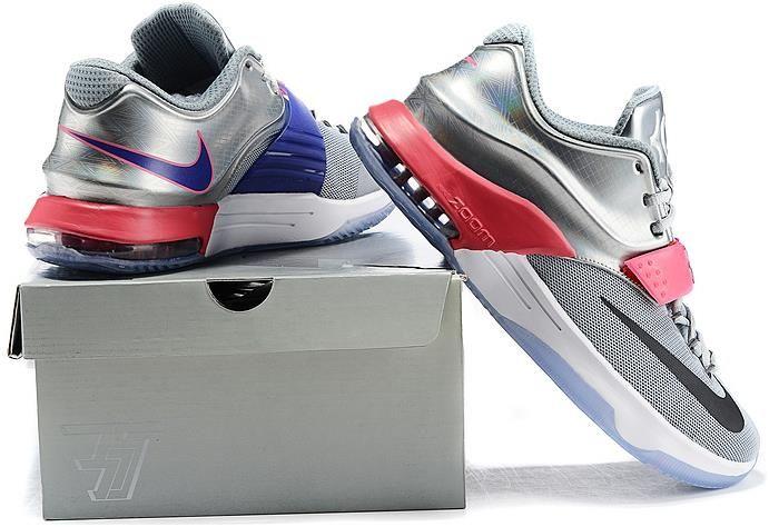 e7abd0873a0a Nike KD 7 Pink Silver Grey Black1