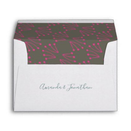 Chic Spring Wedding Personalized Envelope  Envelopes Wedding And