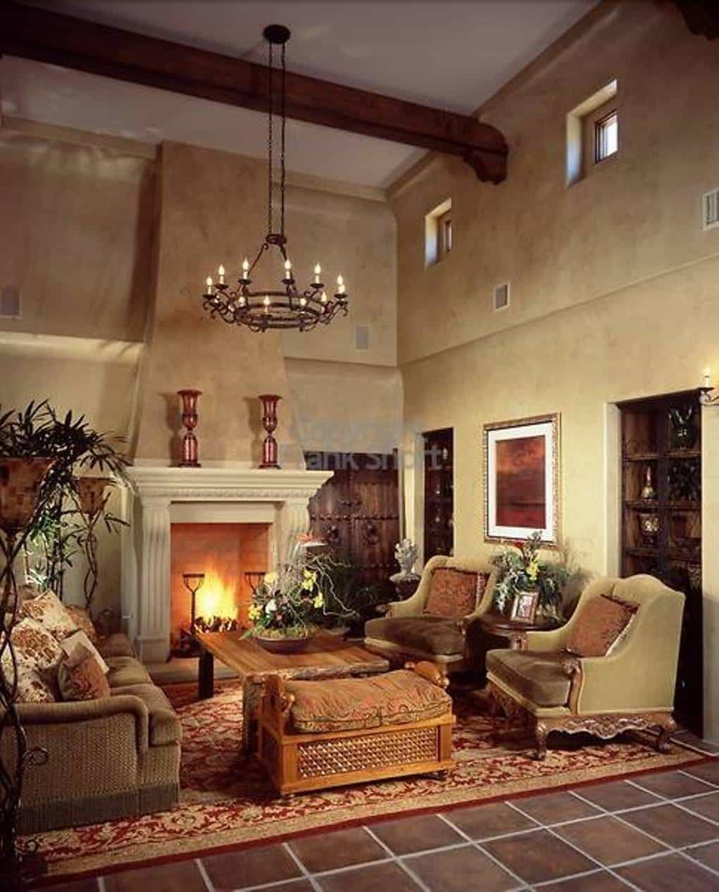 Living Room , Natural Tuscan Living Room : Tuscan Living Room With