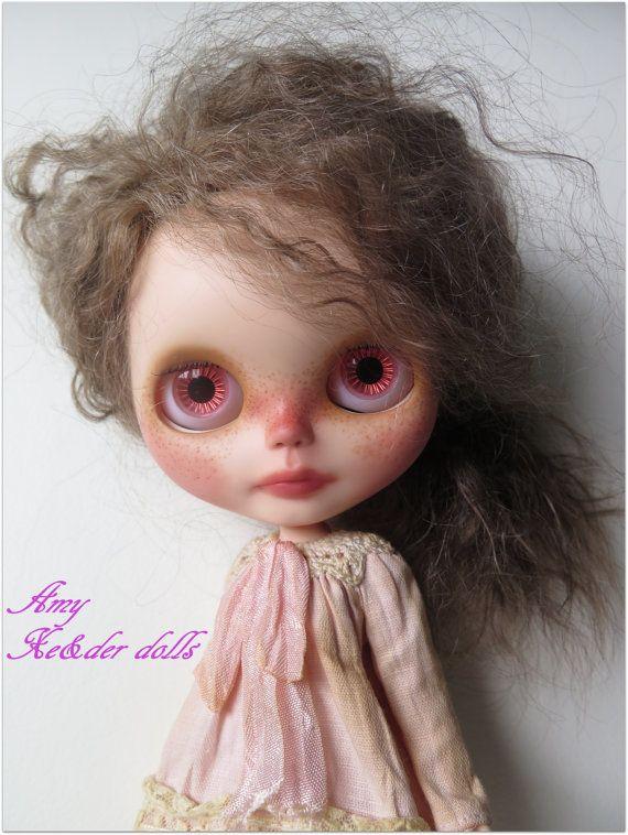 OOAK custom blythe doll with mohair reroot Amy by XeiderDolls