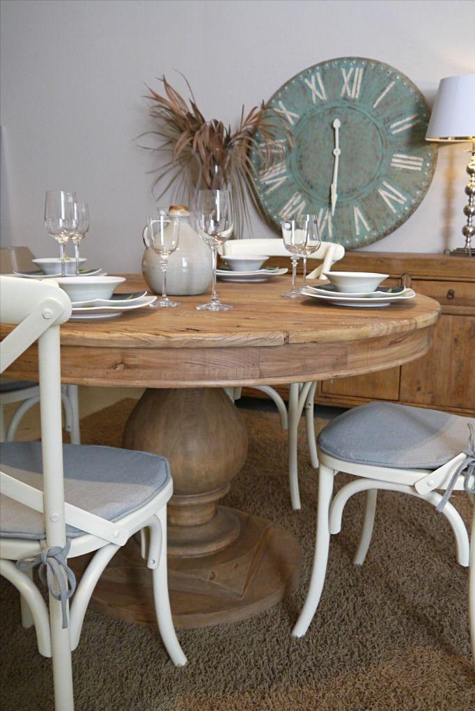 Mesa comedor redonda madera reciclada, mesa comedor madera reciclada ...