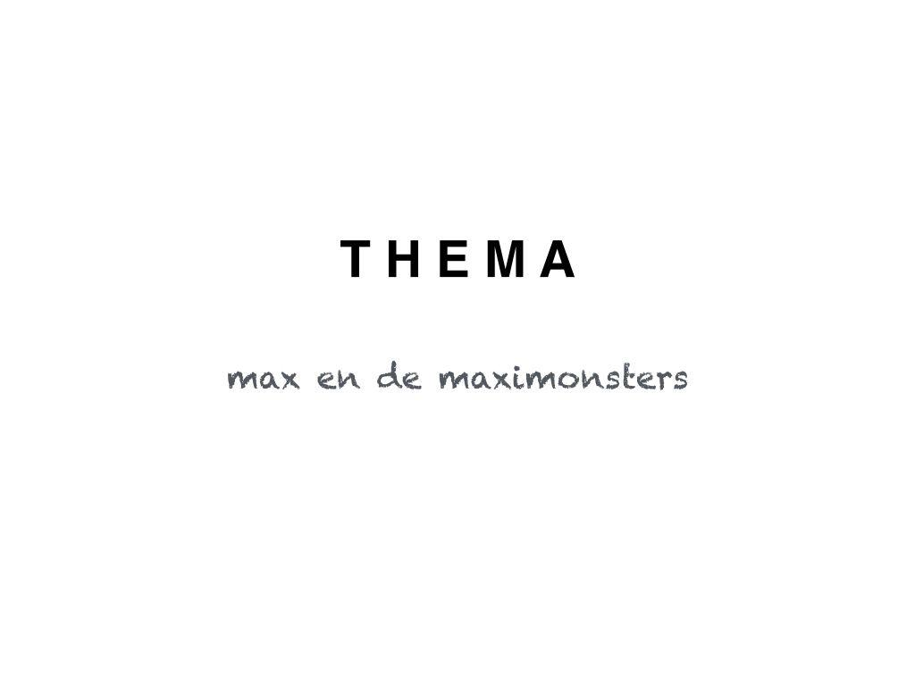 Lesideeën omtrent het thema max en de maximonsters | Max en de ...
