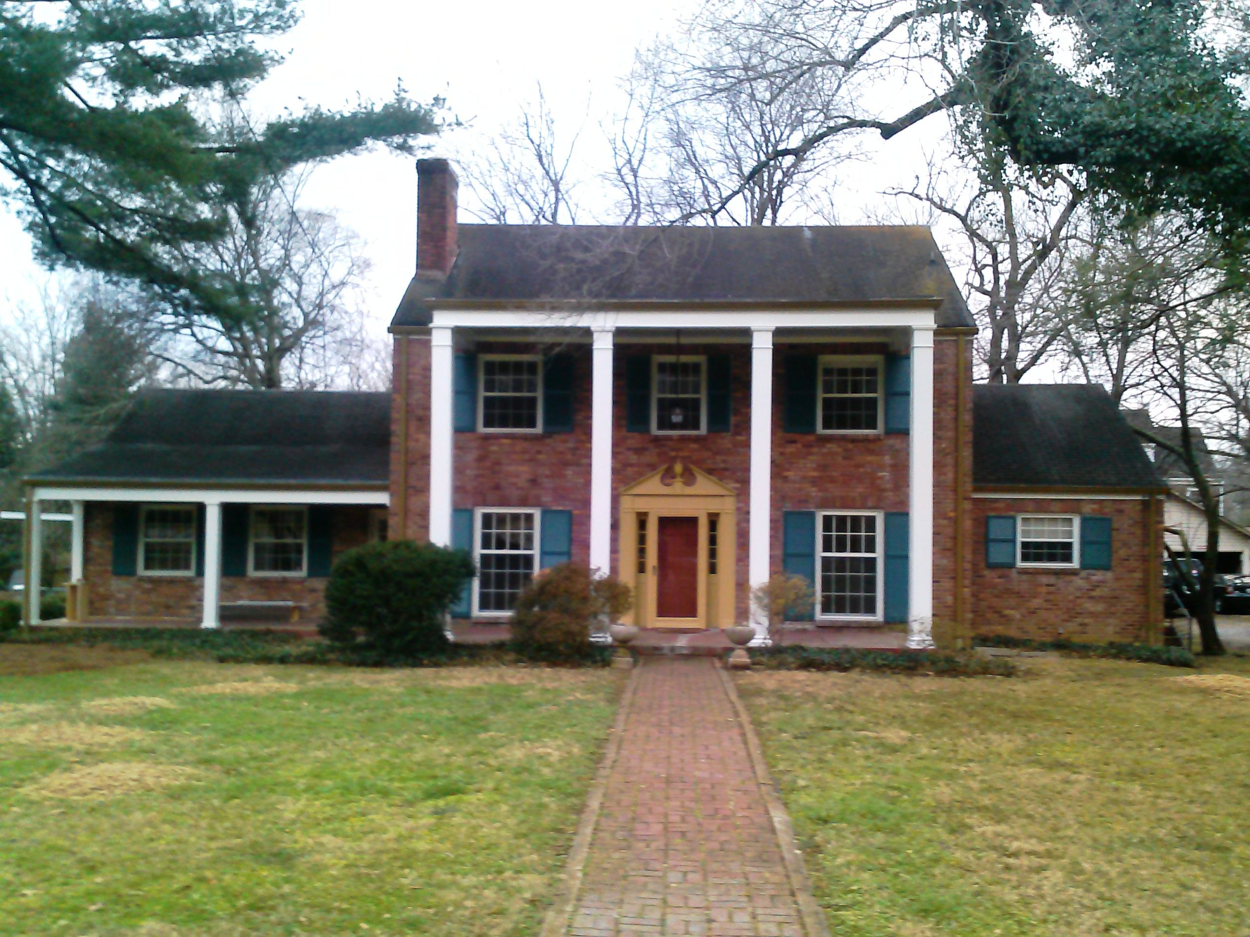 brick colonial revival | Built in 1938, this two-story, brick ...