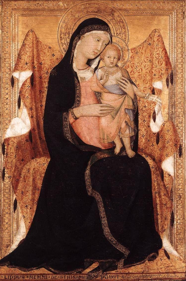 Lippo Memmi (Filippo di Memmo) ~ Virgin and Child, 1322