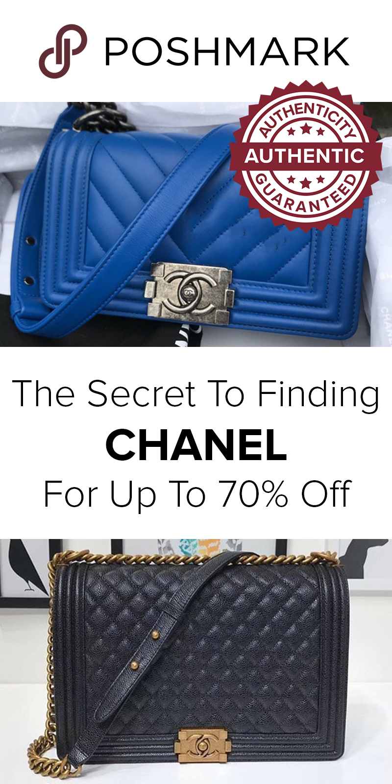 Find Pre Owned Chanel Handbags For Prices On Poshmark Get Your Designer Purse Up To 70 Off Retail When You The