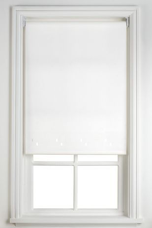 Transform A Boring Window Roller Blind By Covering It With Pretty