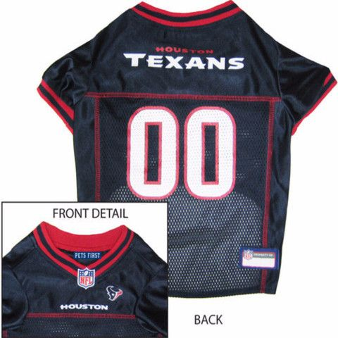 Let your dog show there team pride with this officially licensed Houston  Texans Dog Jersey - Red Trim. This awesome dog jersey is made of polyester  mesh an a118c03e7