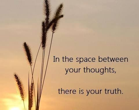 In the space between your thoughts