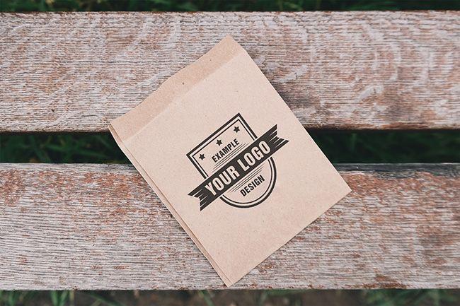 Download Logo On Paper Mockup Mediamodifier Online Mockup Generator Paper Mockup Bag Mockup Logo Mockup