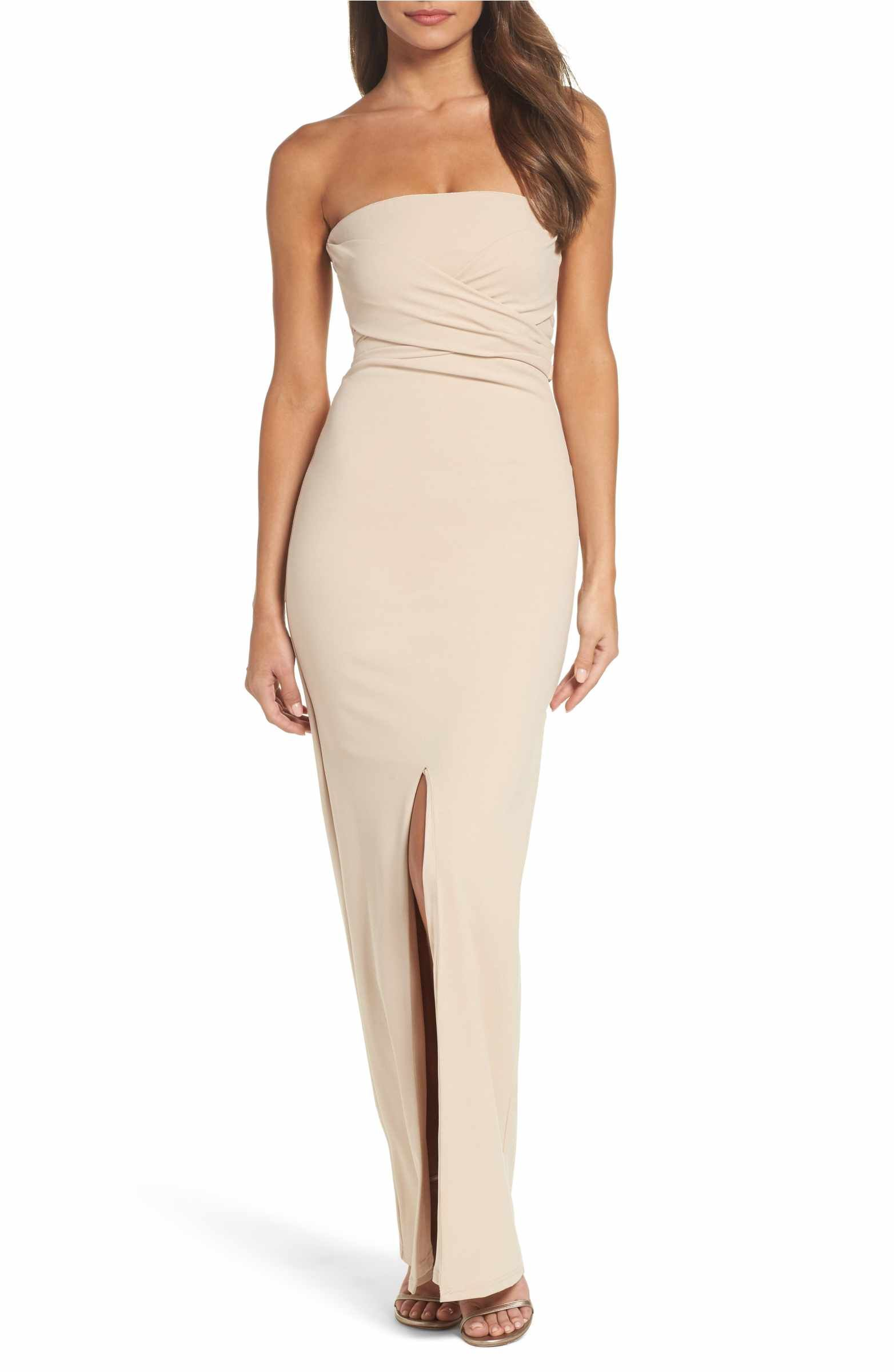 Main Image - Lulus Own the Night Strapless Maxi Dress  c8b1d9e23