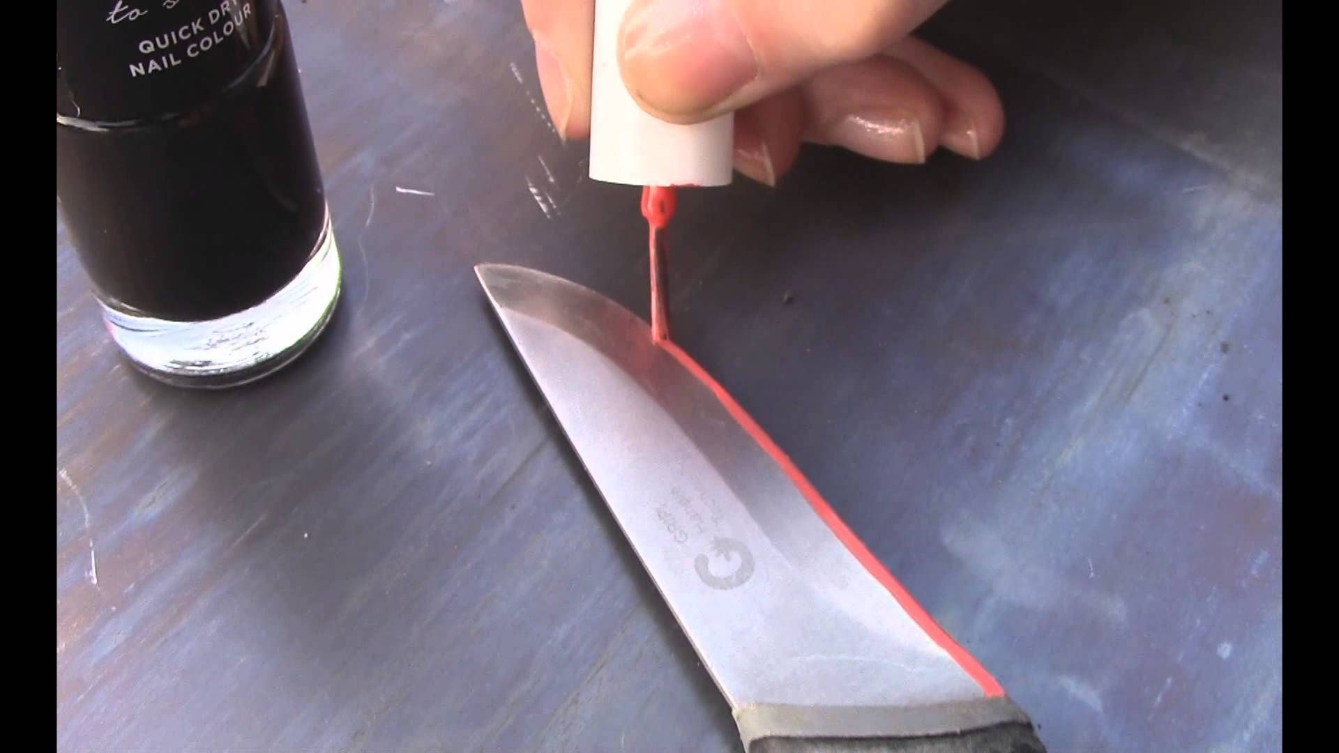 How To Etch A Knife Blade Or Any Steel I Reckon Using