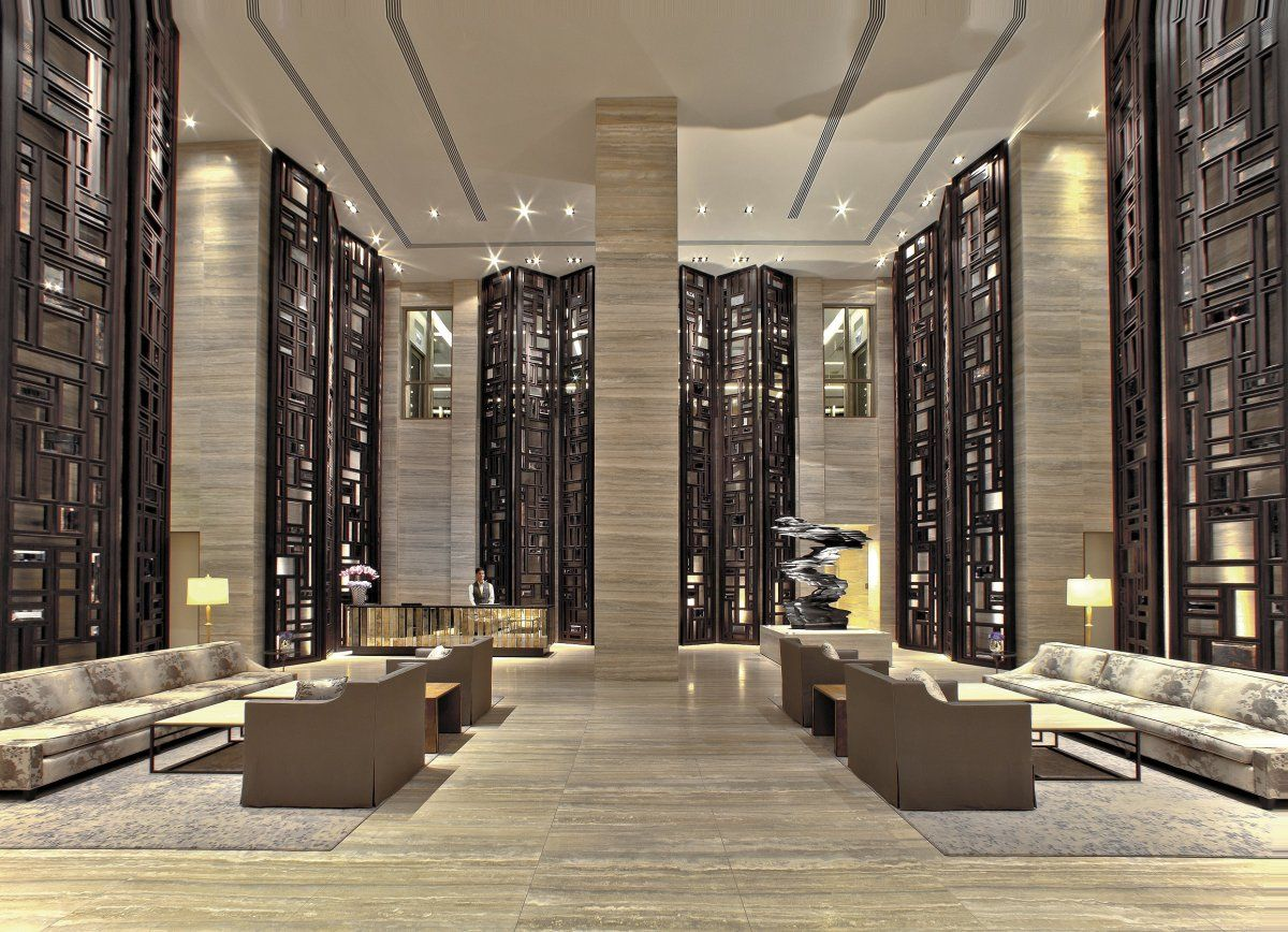 3d rendering luxury hotel lobby china luxury china hotel lobby - Modern Luxury Hotel Lobby