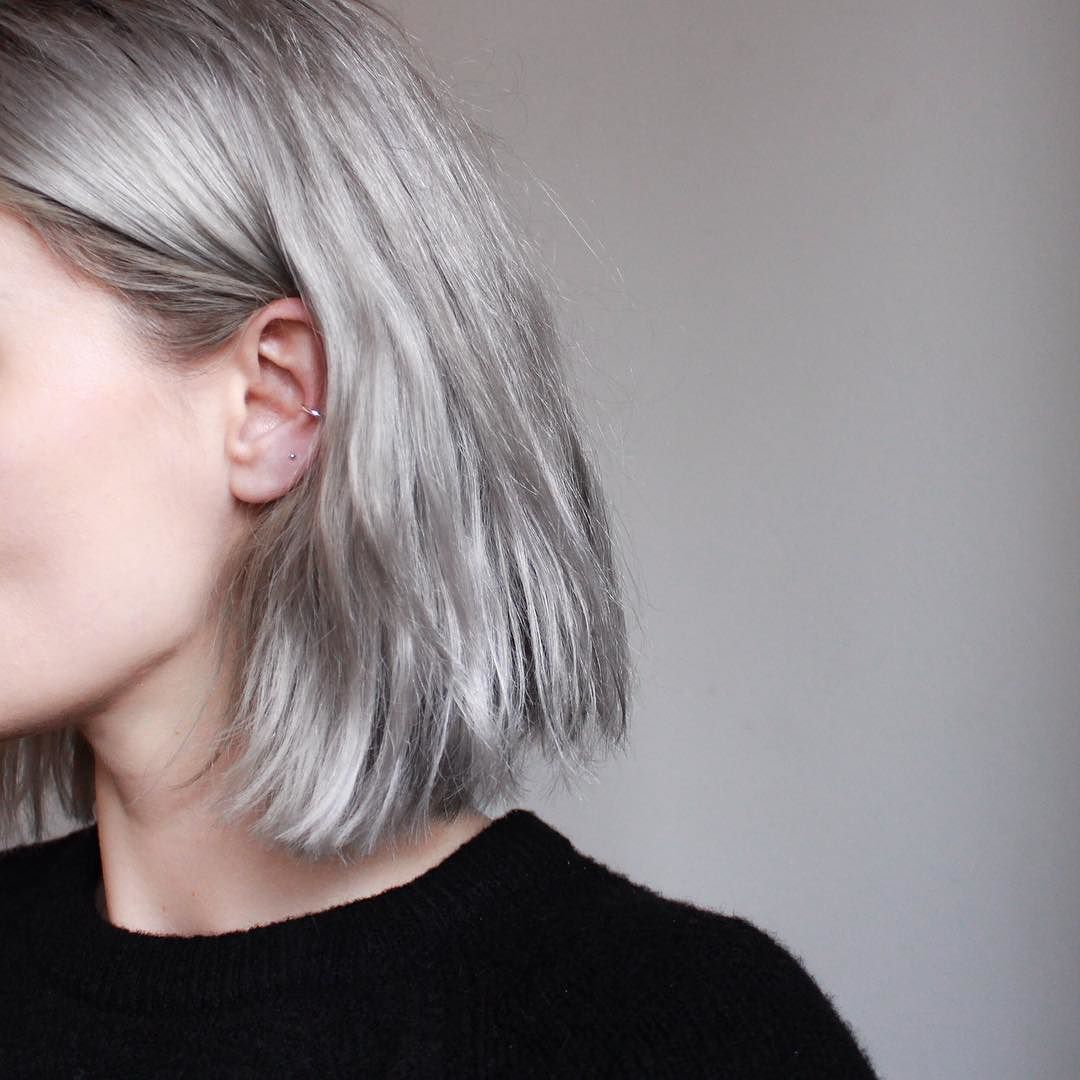 Stillwithyou On Instagram New Crew Neck Knit And Barely There Silver Details Neck Length Hair Above Shoulder Hair Shoulder Hair