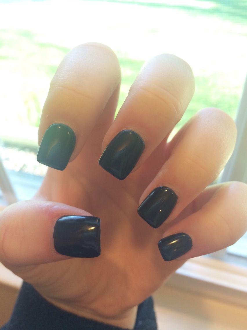 short square dark blue gel acrylic nails :) | nailssss | Pinterest ...