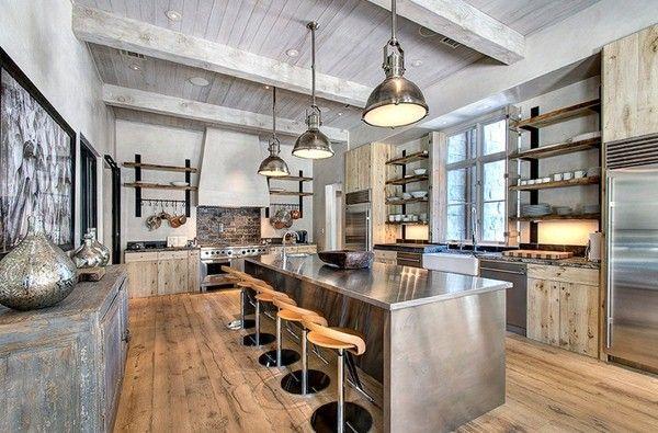 Cuisines industrielles en circulation cuisine design moderne décor ...