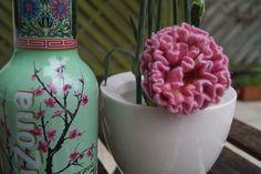 Filz und Garten: DIY Wie man eine Nelke filzt