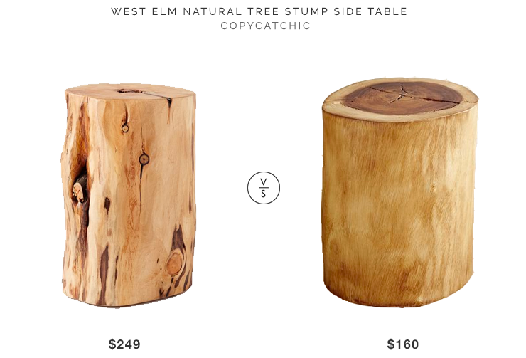 Beau West Elm Tree Stump Side Table For $249 Vs Pier 1 Natural Tree Stump Accent  Table