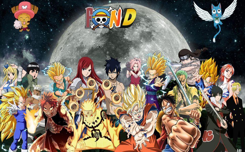 Fairy Tail One Piece Naruto HD Wallpaper Anime, Dbz