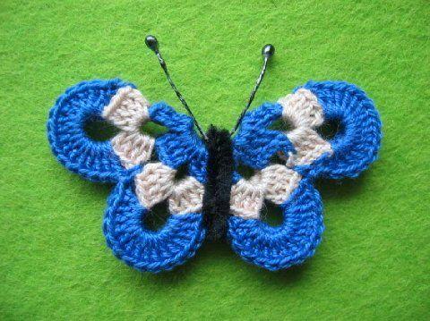 100% aito tehtaanmyymälä verkossa myytävänä virkattu perhonen !pattern!   Lanka ja kangas   Perhoset ...
