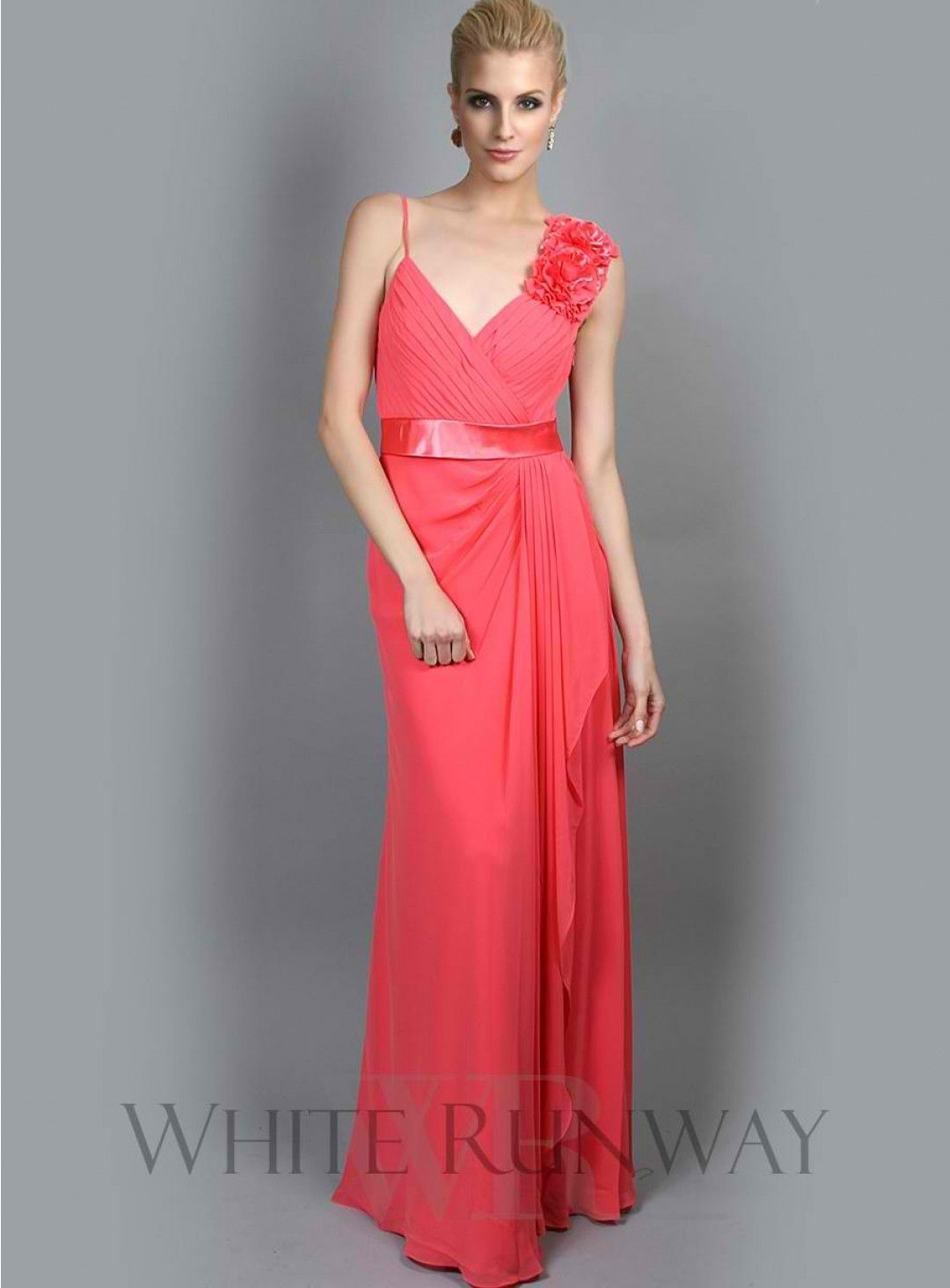 Gorgeous dress for wedding party  Posies Dress Full length chiffon dress with floral detail on the