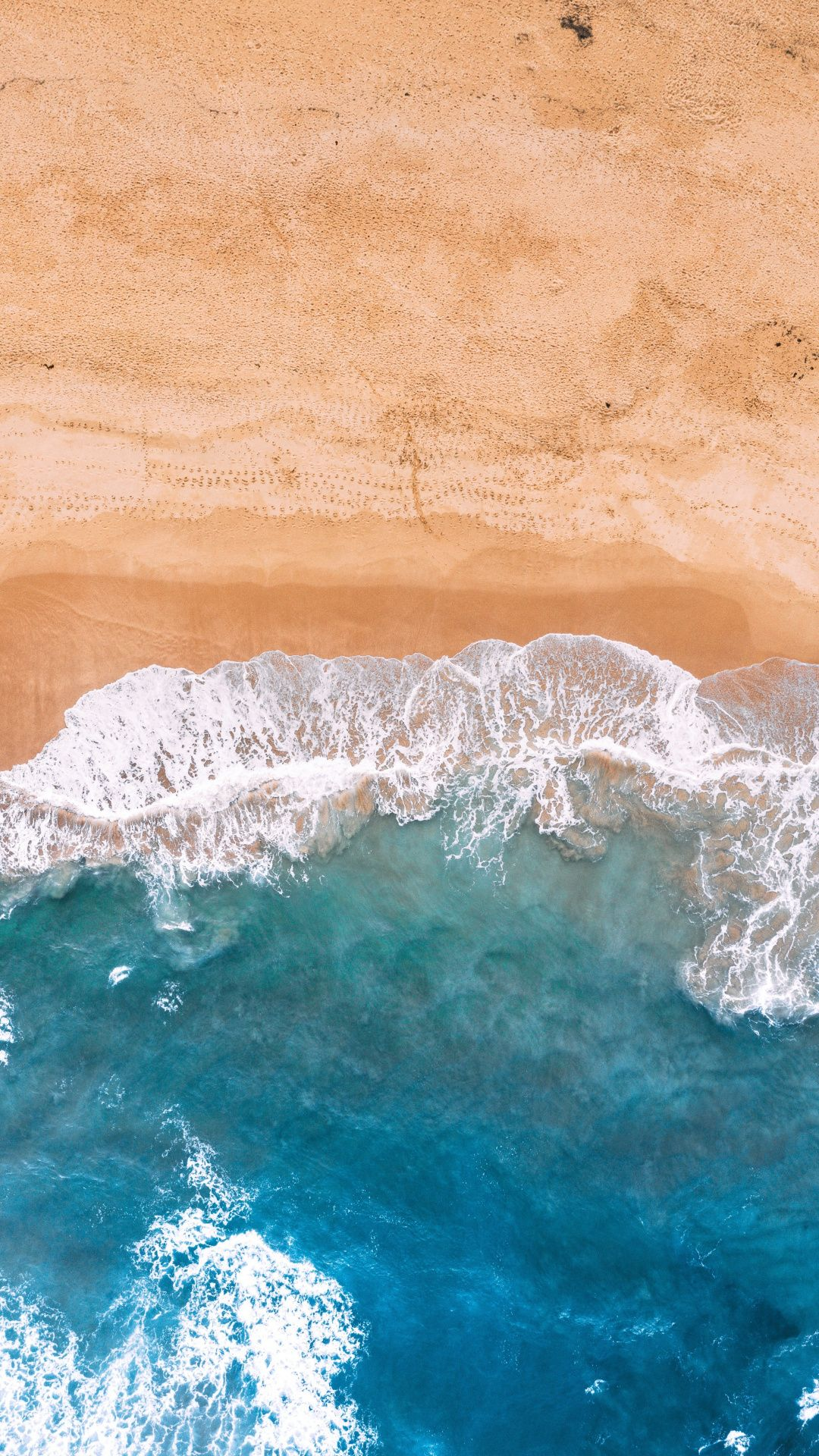 Downaload Blue Sea Waves Beach Aerial View Wallpaper For Screen 1080x1920 Samsung Galaxy S4 S5 Note Sony Beach Aerial View View Wallpaper Nature Images