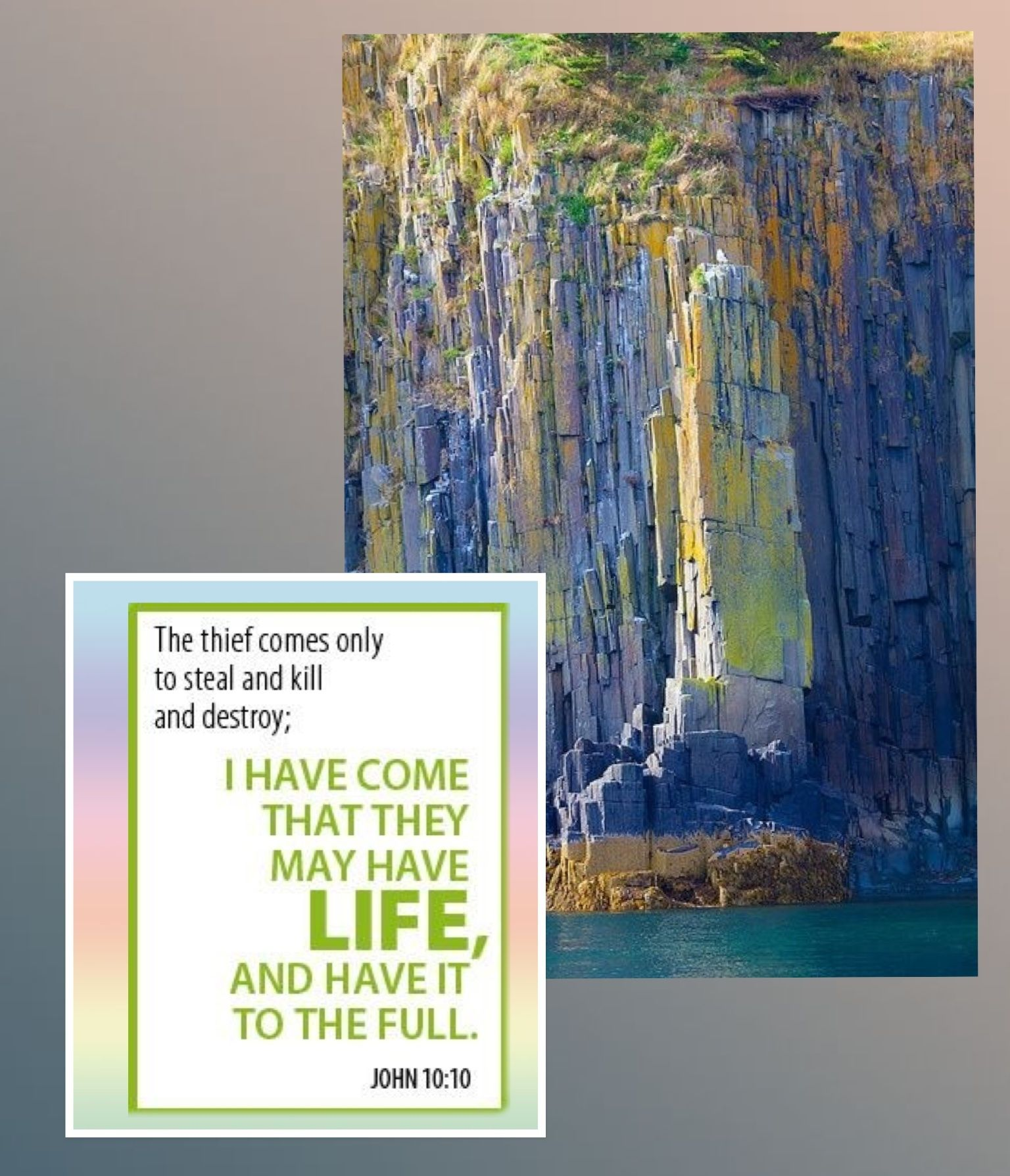 John 10:10 - made by Dave L Walli with Bazaart #collage