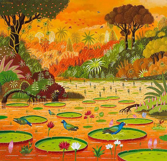 By Alain Thomas, oil on wood Alain Thomas peinture Pinterest