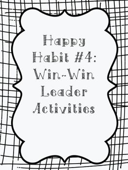 These are activities to go along with a leadership program