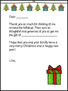 Christmas Thank You Letter to Students | Letter to ...