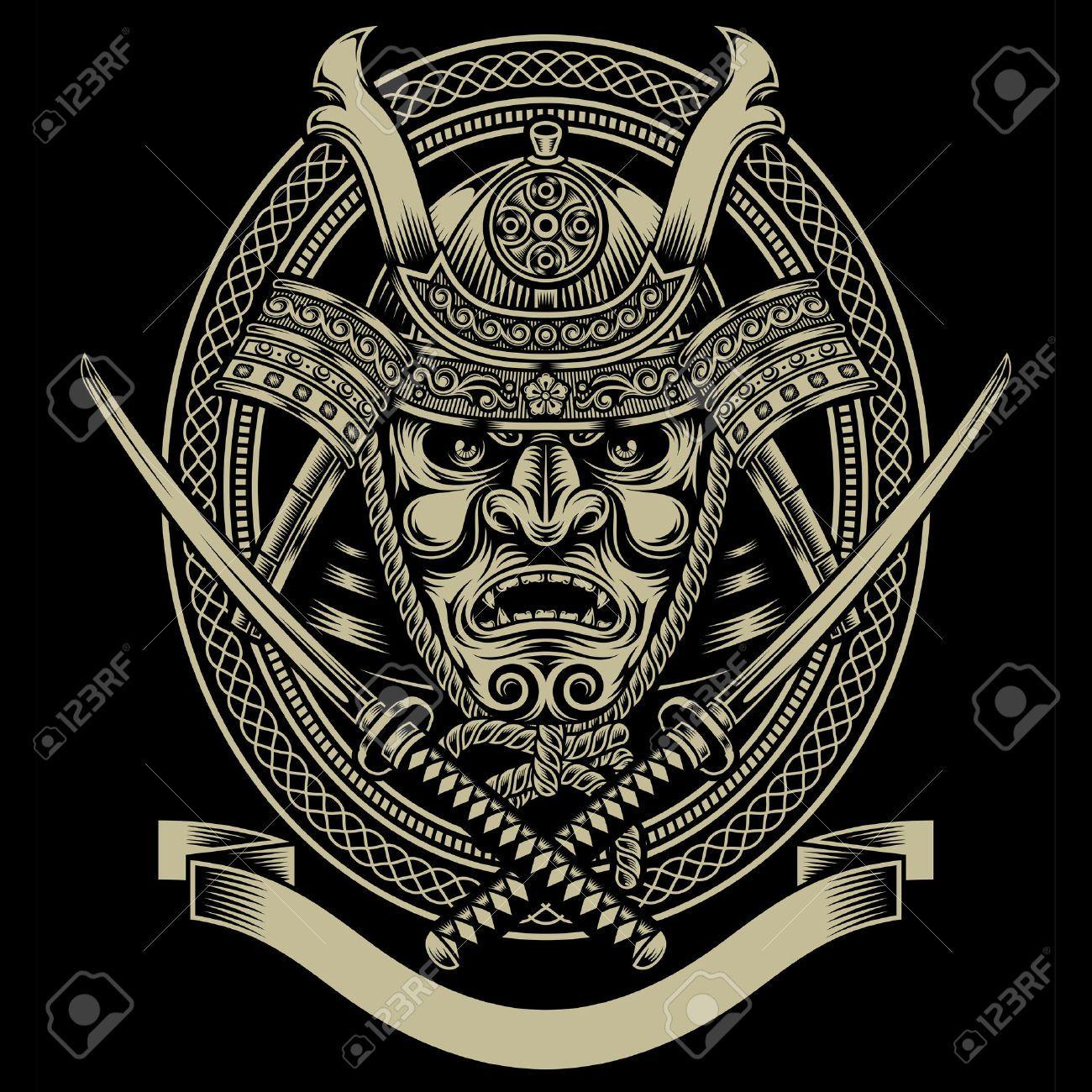 Samurai Warrior With Katana Sword Samurai Casco Arte De Samurai Ronin Samurai