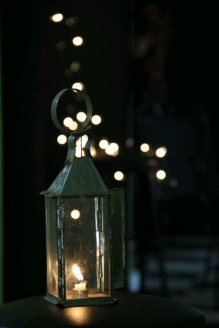 Bokeh candle