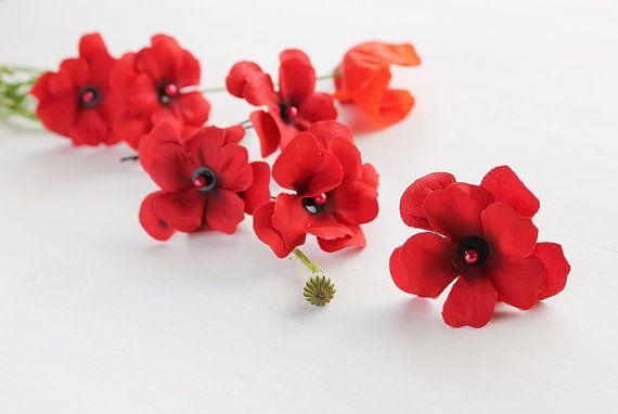 Rote Hortensie Clips, Braut Haarnadeln Hochzeit Bobby Pins, Waldland Haarspangen, rotes Braut Haar Clips, Brautjungfern Haarnadeln, rot Hochzeit