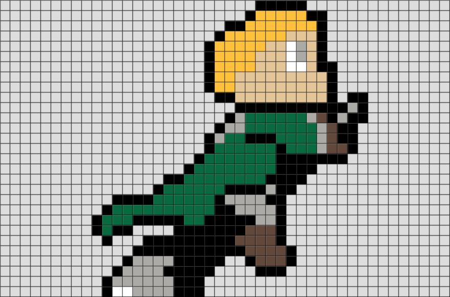 Draco Malfoy Quidditch Pixel Art   Pixel art, Cross stitch ...