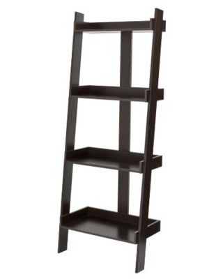 redo your entire living room for less than 2000 shelving ladder bookcase bookcase ladder. Black Bedroom Furniture Sets. Home Design Ideas