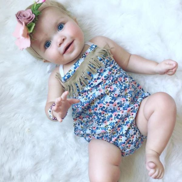 Design Your Own Romper! Love that you can mix and match and design your own romper for baby girl!