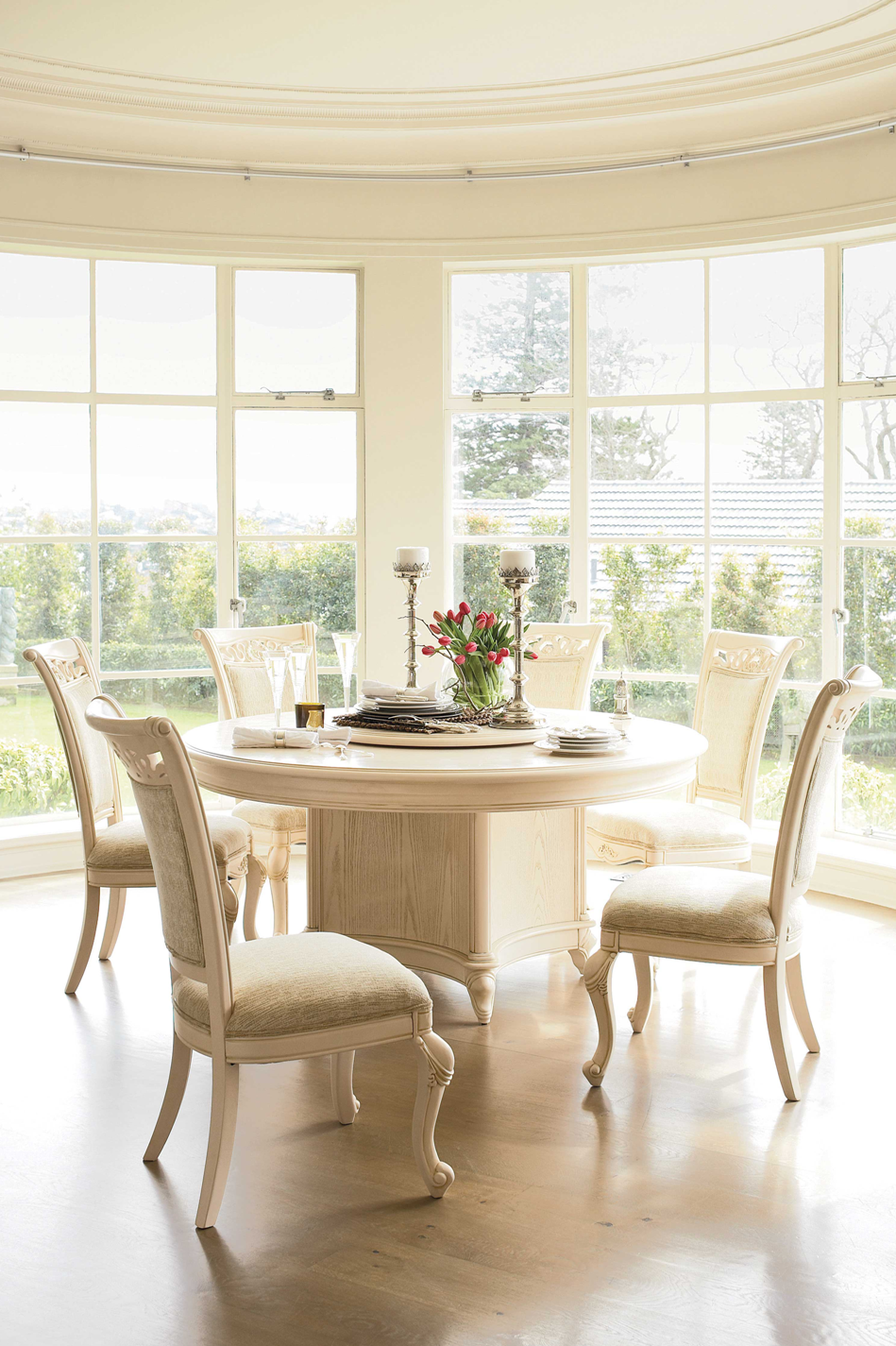Chateau 7 Piece Round Dining Suite By Sorensen Furniture   Harvey Norman New  Zealand