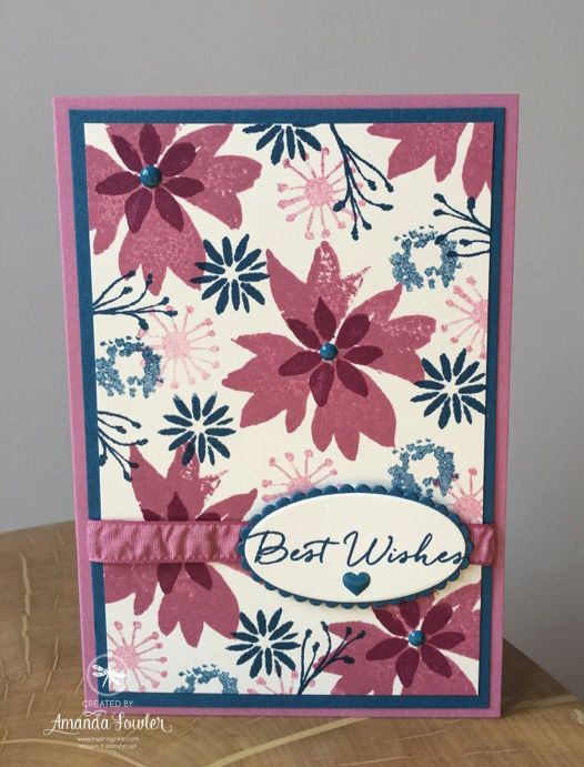 Blooms and Wishes Stampin' Up! Uk Amanda Fowler Inspiring Inkin