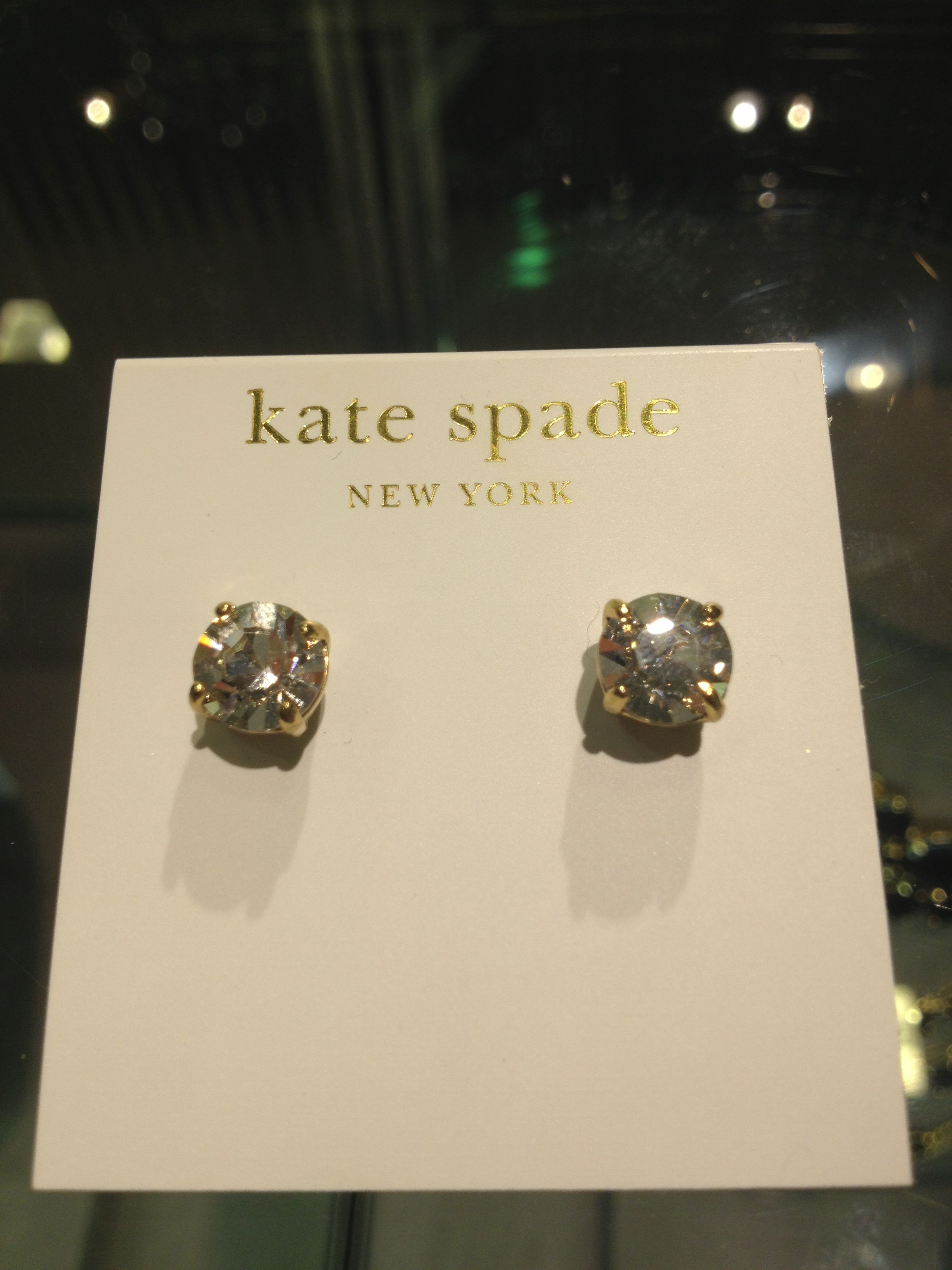 Kate Spade Gold and CZ Studs! $48$